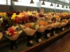 Rows of florist