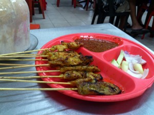 Chicken and Pork Satay