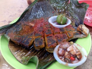 BBQ Stingray. It has a taste of curry.