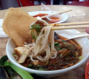 Another Penang Laksa. This one came with a cracker.