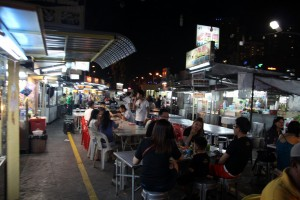 View of Gurney Drive hawker centre